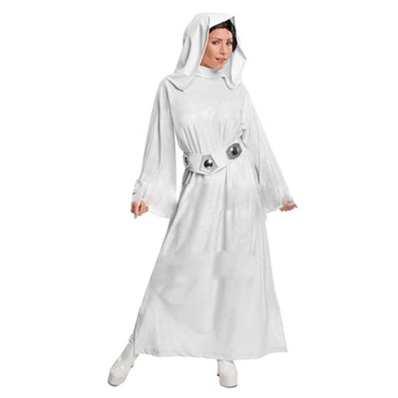 Women Star Wars Classic Deluxe Princess Leia Costume Halloween Stage Performance Outfit