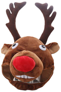 Funny Plush Wapiti Hat Decoration Christmas Novelty Party Dress up Cosplay