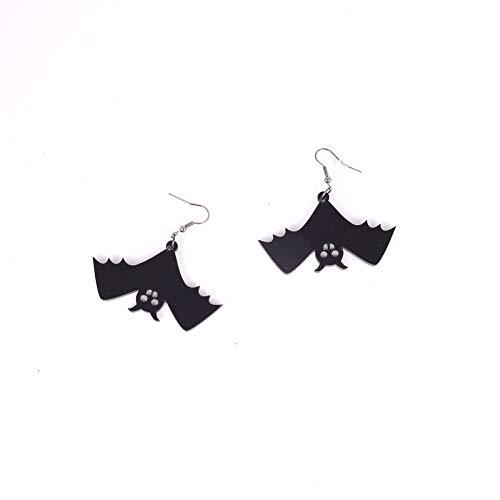 Halloween Earrings, Vintage Black Spooky Bat Earrings Halloween Dress up for Girls Ladies Earrings