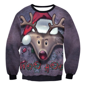 Adult Ugly Christmas Sweater Funny Sweatshirt Long Sleeve Pullover