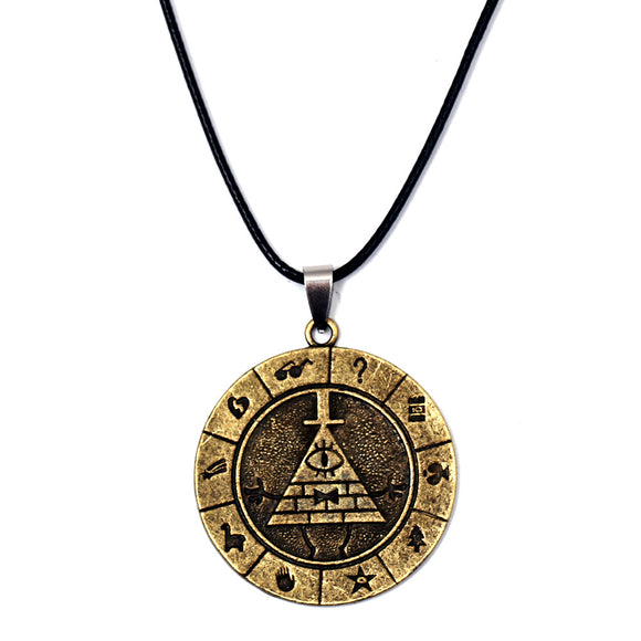 Gravity Falls Bill Time Jewelry Pendants The Mysterious Town Necklace