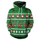 3D Funny Adult Christmas Hoodie Printed Sweatshirt Long Sleeve Tops
