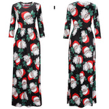 Women Christmas Dress Print Party Ugly Long Dress