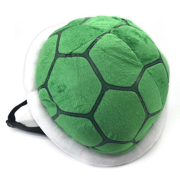 Super Mario Green Koopa Troopa Wind Plush Backpack Turtle Shell Bag