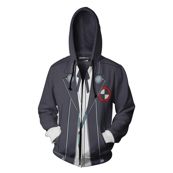 Unisex Junpei Iori Hoodies Game Persona 3 Zip Up 3D Print Jacket Sweatshirt