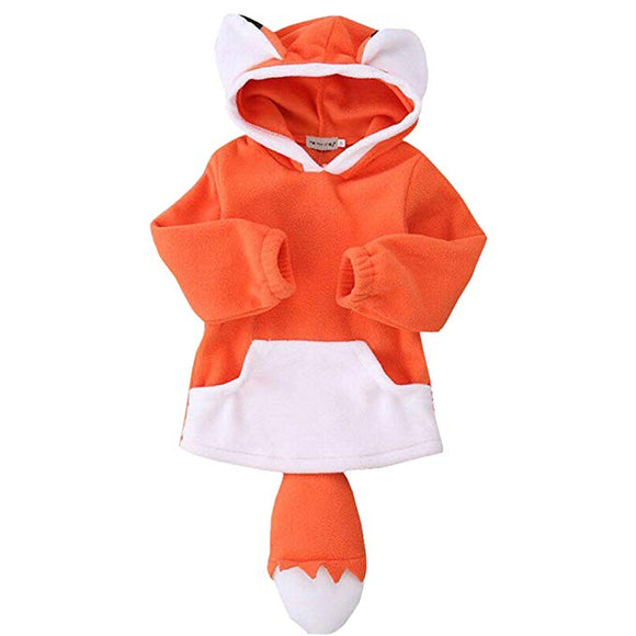 Le Petit Prince Toddler Boy Girl Halloween Cosplay Costume Outwear Fox Outfit Jacket Hoodies Coat