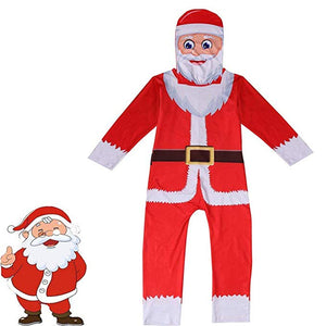 Kids Christmas Costume Santa Claus Jumpsuit Outfit