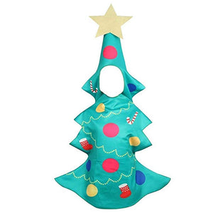 Kids Girls Christmas Tree Costume Dress Xmas Party Outfit