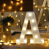 Warm White LED Letter Alphabet Letter Lights for Christmas Decoration