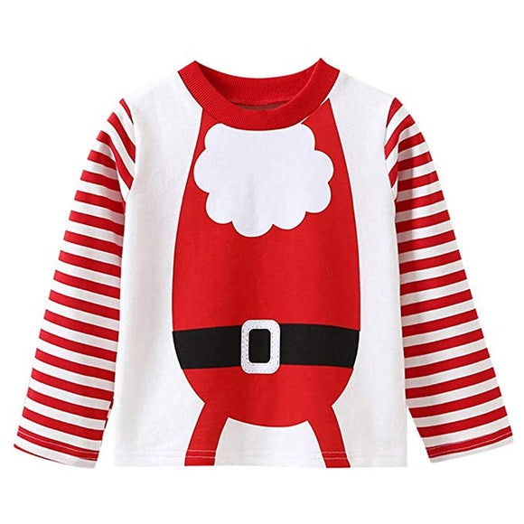Baby Christmas Striped Long Sleeve Sweatshirt Clothes