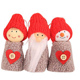 Christmas Hanging Decorations Pine Cone Xmas Doll Gift 3Pcs Set