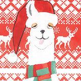 Kids 3D White Alpaca Digital Print Christmas Hoodies