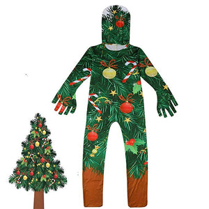 Kids Christmas Costume Christmas Tree Jumpsuit Outfit