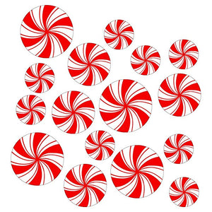 Peppermint Floor Decals Stickers Clings with Scraper for Christmas Decoration