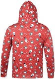 Mens 3D Digital Print Christmas Ugly Hoodie