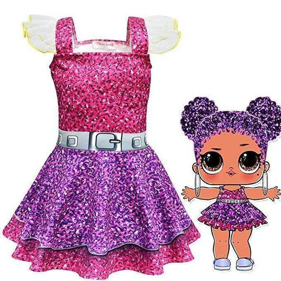 L.O.L Surprise Doll Girls Cosplay Cartoon Dress For Halloween