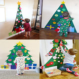 DIY Christmas Tree Decoration Wall Decor with Hanging Rope for Kids Xmas Gifts