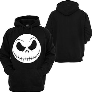 Men Nightmare Before Christmas Jack Skellington Face Hoodie