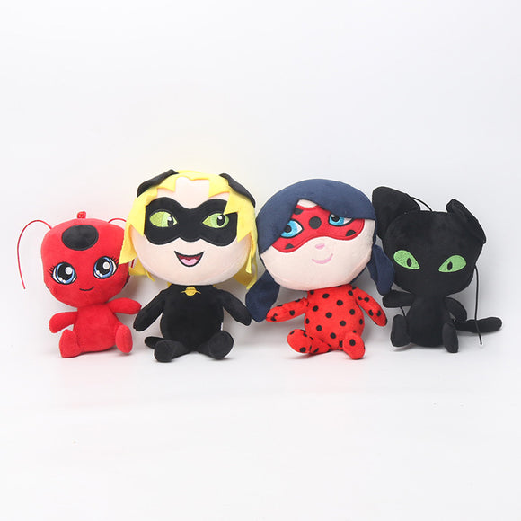 Miraculous Ladybug Cat Noir Plush Dolls Stuffed Toys For Kids