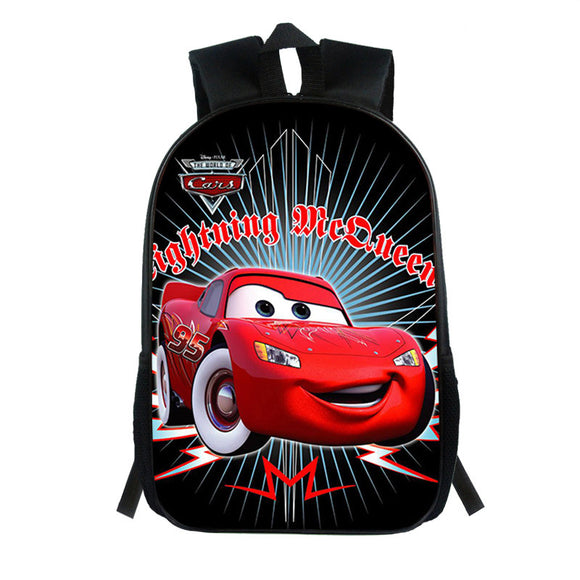 Cars Lightning Mcqueen Backpack for Kids Schoolbags 20L