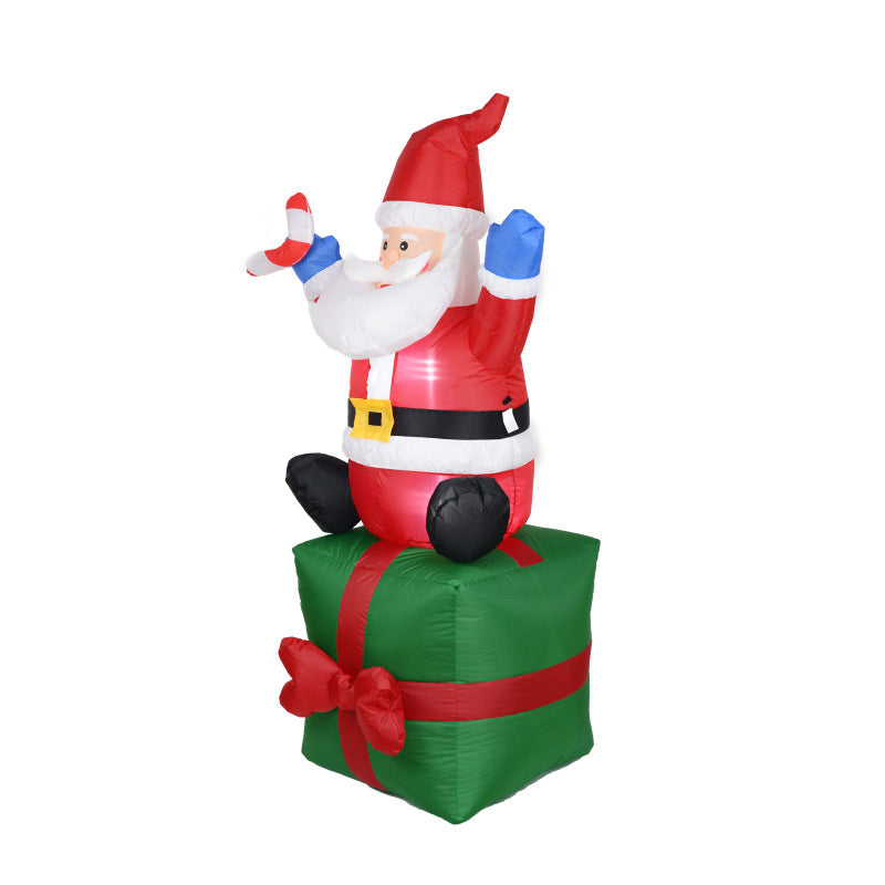Inflatable Christmas Decorations.Inflatable Christmas Decoration Inflatables Santa Claus Gift Box Decorations
