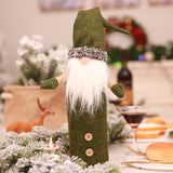 Christmas Wine Bottle Cover No face Doll Festival Decorations