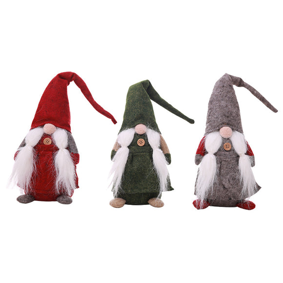 Christmas Standing No Face Doll Dwarf Oldman Dolls Decoration