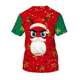 Men Santa Claus Costume Print Novelty Christmas Holiday Humor T-shirt