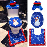 3 Pieces Toilet Seat Cover Christmas Decorations
