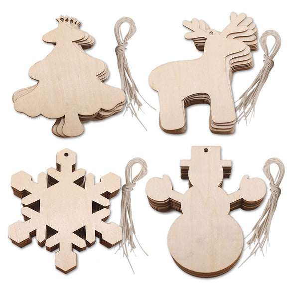 Wooden Christmas Hanging Decorations