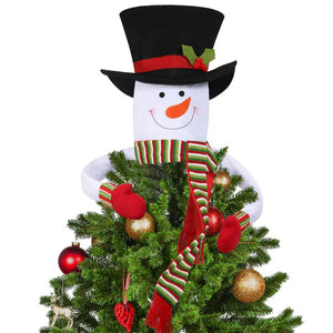 Snowman Tree Topper Outdoor Indoor Novelty Christmas Decorations