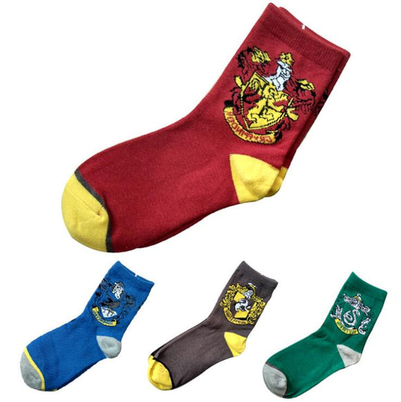 Harry Potter Socks Cosplay Hufflepuff Slytherin Ravenclaw Gryffindor Socks