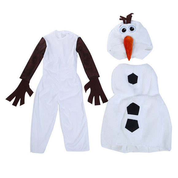 Kids Frozen 2 Snowman Olaf Cosplay Costume Christmas Romper Jumpsuit Winter Warm Clothes