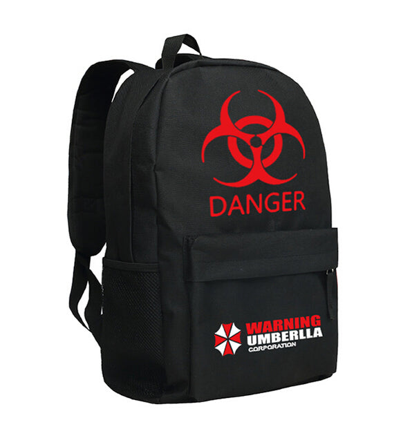 Movie Resident Evil Backpack School Bag