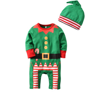 Baby Boys Christmas Costume Romper with Hat