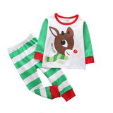 Kids Christmas Pajamas 2 Piece Sets Sleepwear Clothes