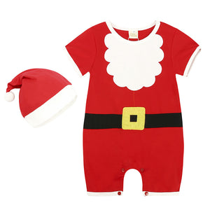 Baby Clothes Outfits Kids Romper Hat Cap Set Christmas Pajamas