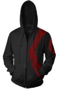 Men Hoodie Full Zipper Sweatshirt Wars God Sparta Costumes