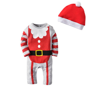 Christmas Jumpsuit Baby Long Sleeve Santa Crawling Onesies