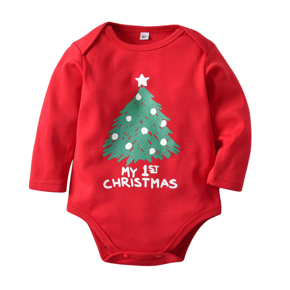 Baby Climbing Clothes Set Christmas Tree Bodysuits