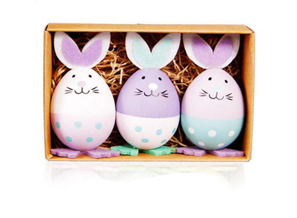Bunny Egg Plastic Easter Egg Table Decoration Toys Gifts