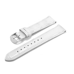 Leather Strap Bonia Croco Design White