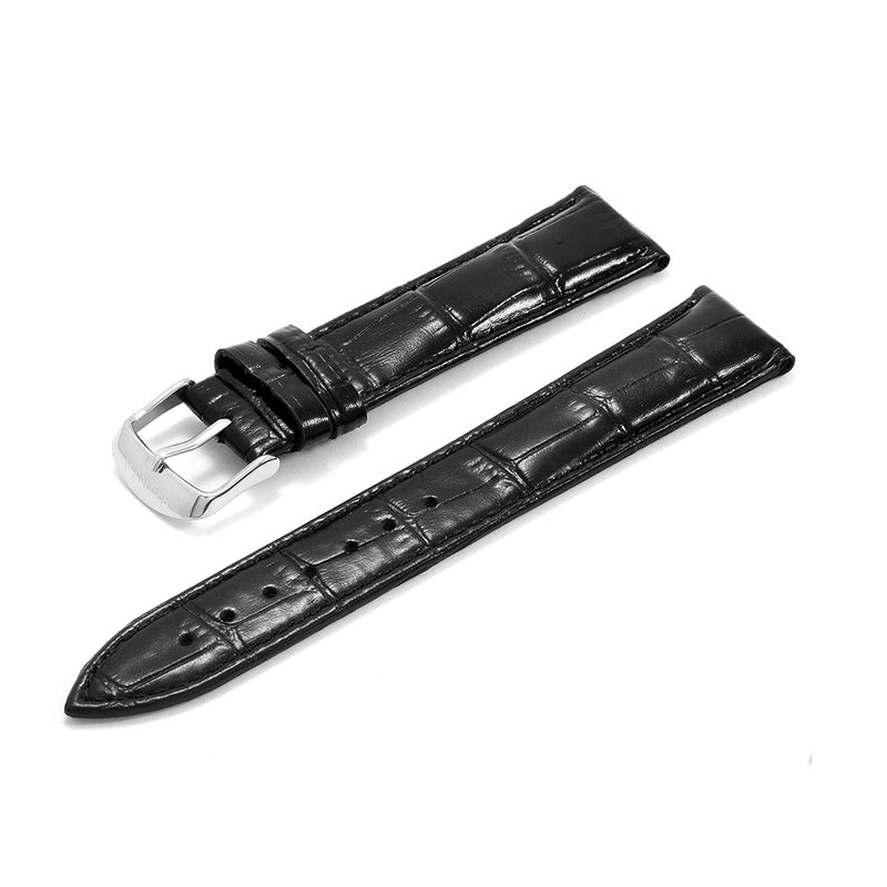 Leather Strap Bonia Croco Design Black