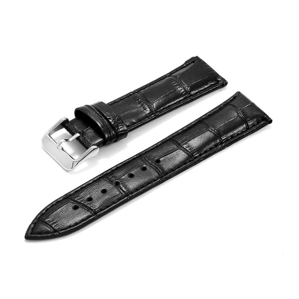 Leather Strap Croco Design Black
