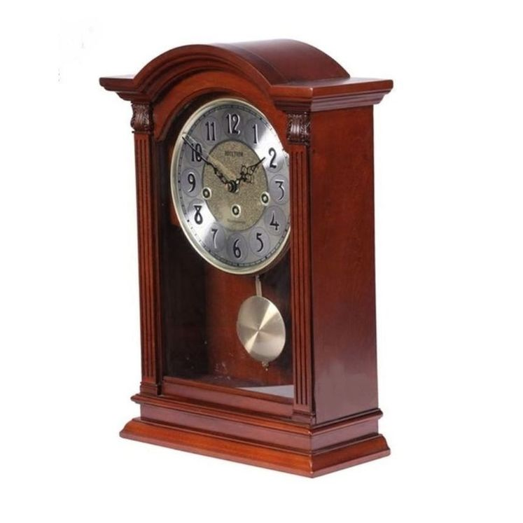 Rhythm Clock Brown Wooden Case Dual Use Clock RTCMJ331BR06