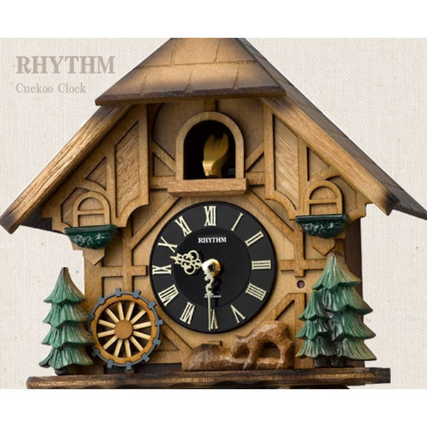 Rhythm Clock Brown Wooden Cuckoo RT4MJ423SR06