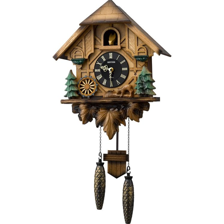 Rhythm Wall Clock Wooden Cuckoo RT4MJ423SR06