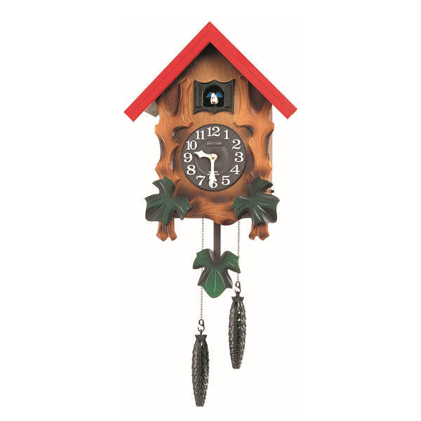 Rhythm Wall Clock Wooden Cuckoo RT4MJ775RH06