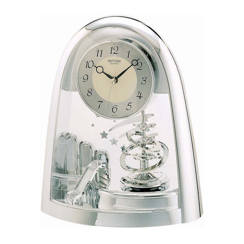 Rhythm Table Clock Pendulum Magic Motion RT4SG607WS19