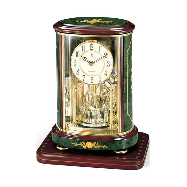 Rhythm Table Clock Inlay Wooden Magic Motion RT4SG702HG05